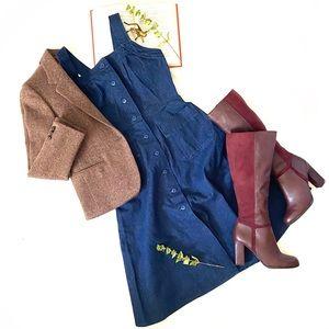 Bespoke | Vintage Handmade Apron Front Denim Dress